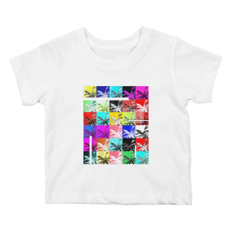 All the Palms Kids Baby T-Shirt by The Artist Shop of Ben Stevens