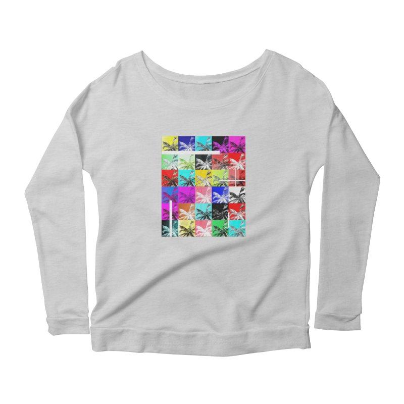 All the Palms Women's Scoop Neck Longsleeve T-Shirt by The Artist Shop of Ben Stevens