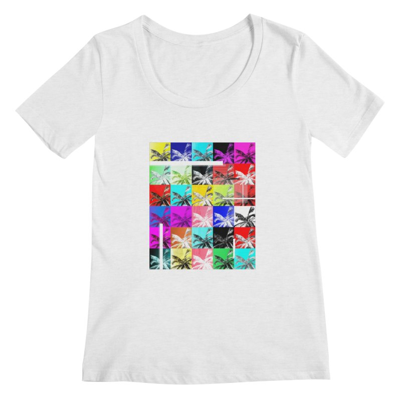 All the Palms Women's Regular Scoop Neck by The Artist Shop of Ben Stevens
