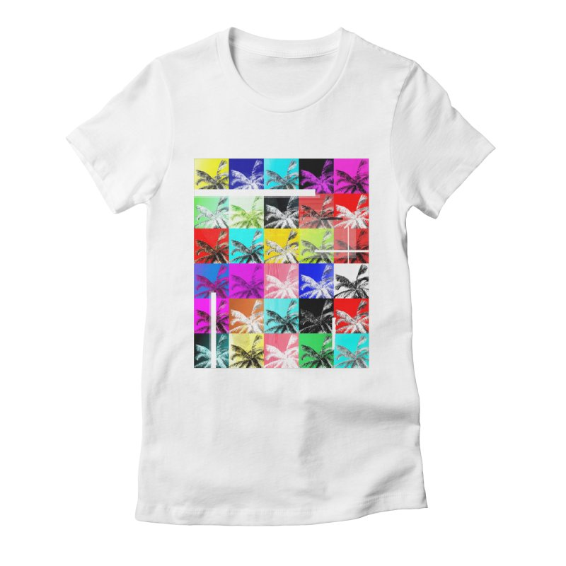 All the Palms Women's Fitted T-Shirt by The Artist Shop of Ben Stevens