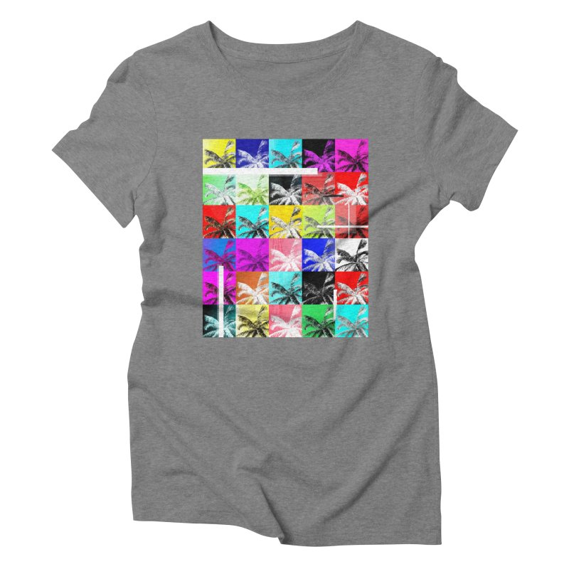 All the Palms Women's Triblend T-Shirt by The Artist Shop of Ben Stevens