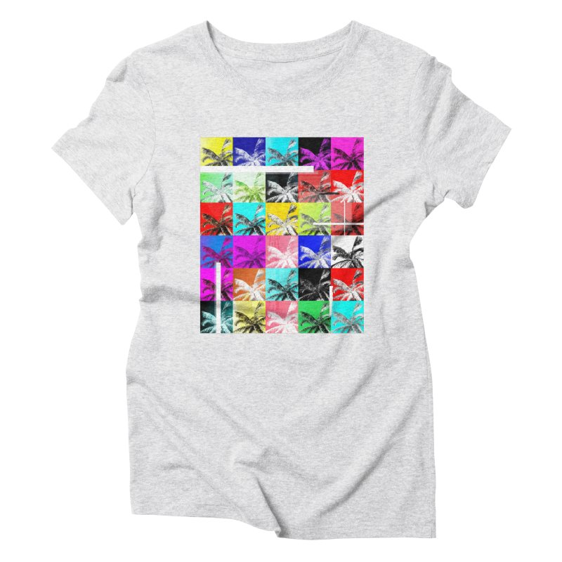 All the Palms Women's Triblend T-Shirt by The Artist Shop of Ben Stevens