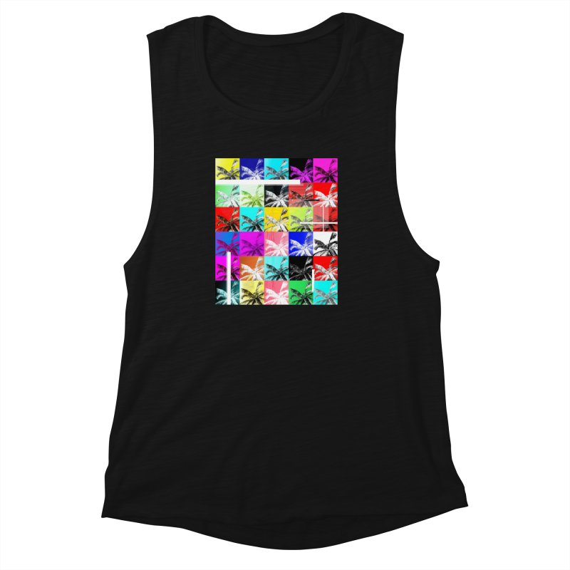 All the Palms Women's Muscle Tank by The Artist Shop of Ben Stevens