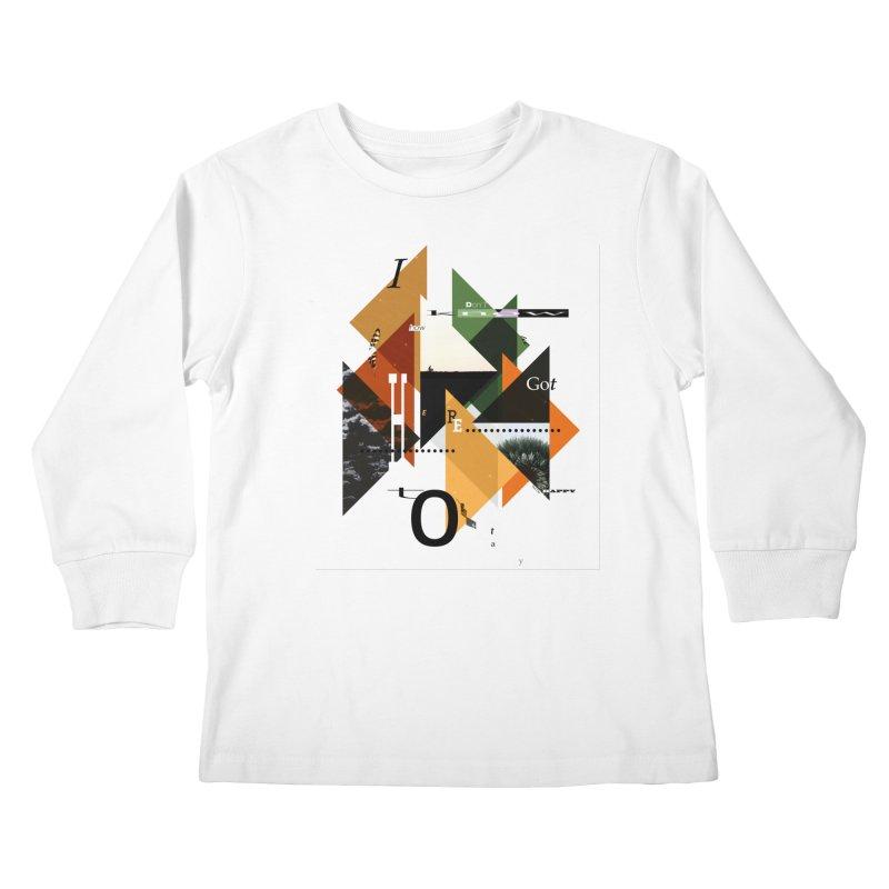 I don't know how we got here... but I'm happy to stay Kids Longsleeve T-Shirt by The Artist Shop of Ben Stevens