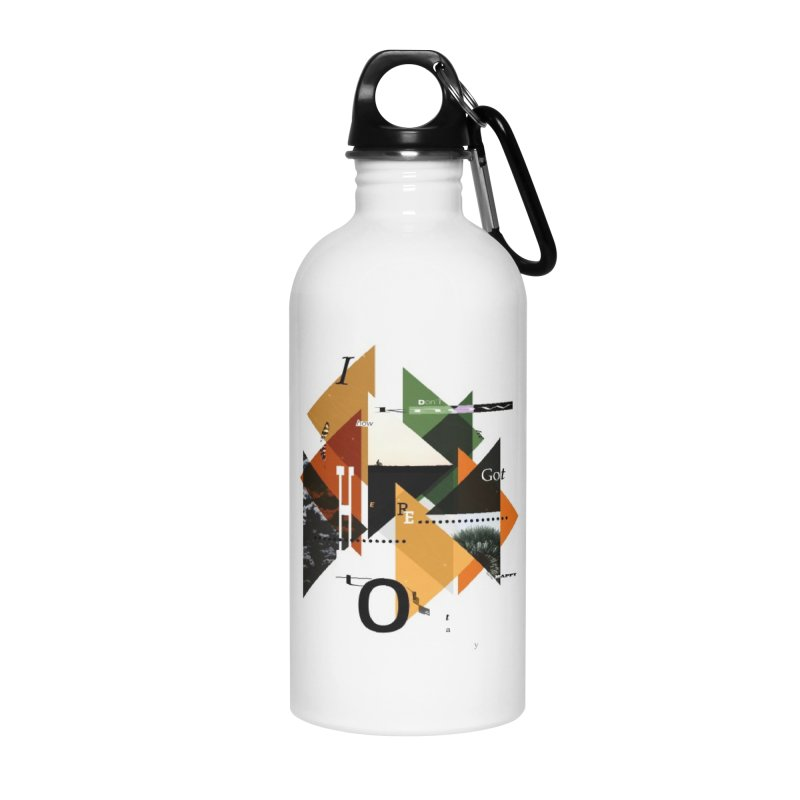 I don't know how we got here... but I'm happy to stay Accessories Water Bottle by The Artist Shop of Ben Stevens