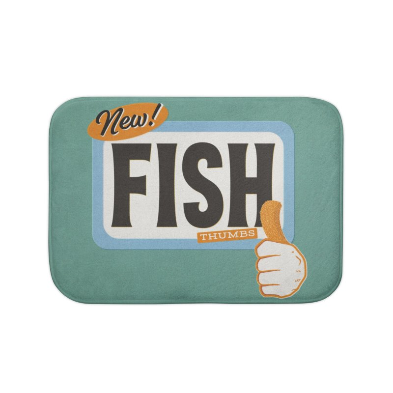 Fish Thumbs Home Bath Mat by The Artist Shop of Ben Stevens