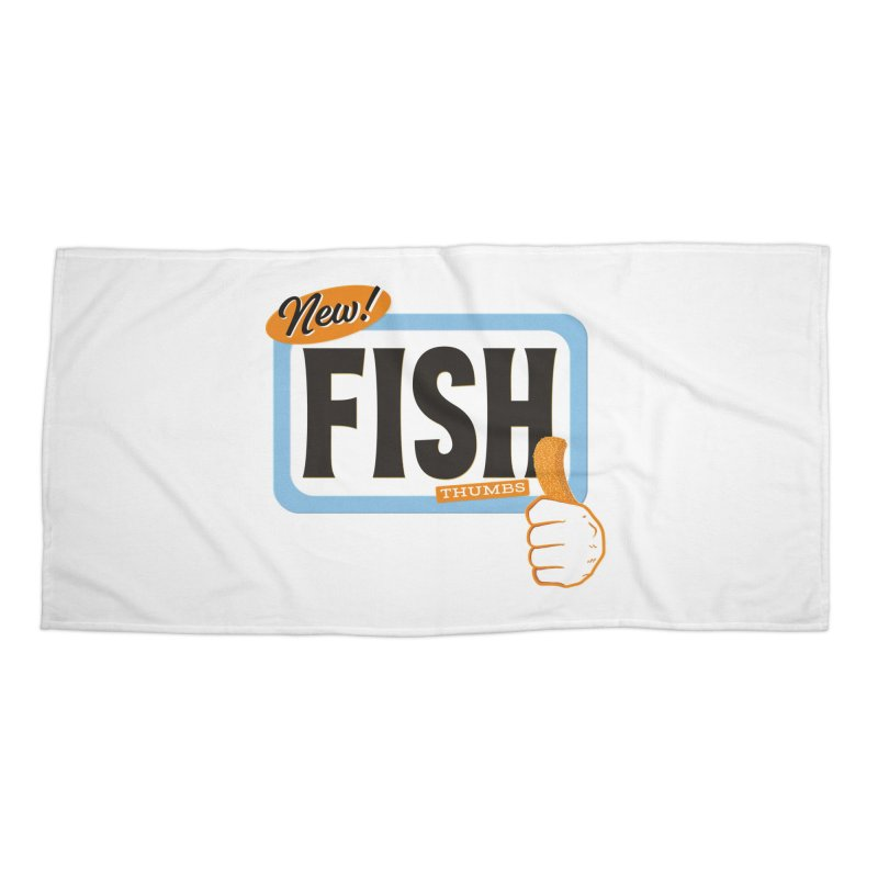 Fish Thumbs Accessories Beach Towel by The Artist Shop of Ben Stevens