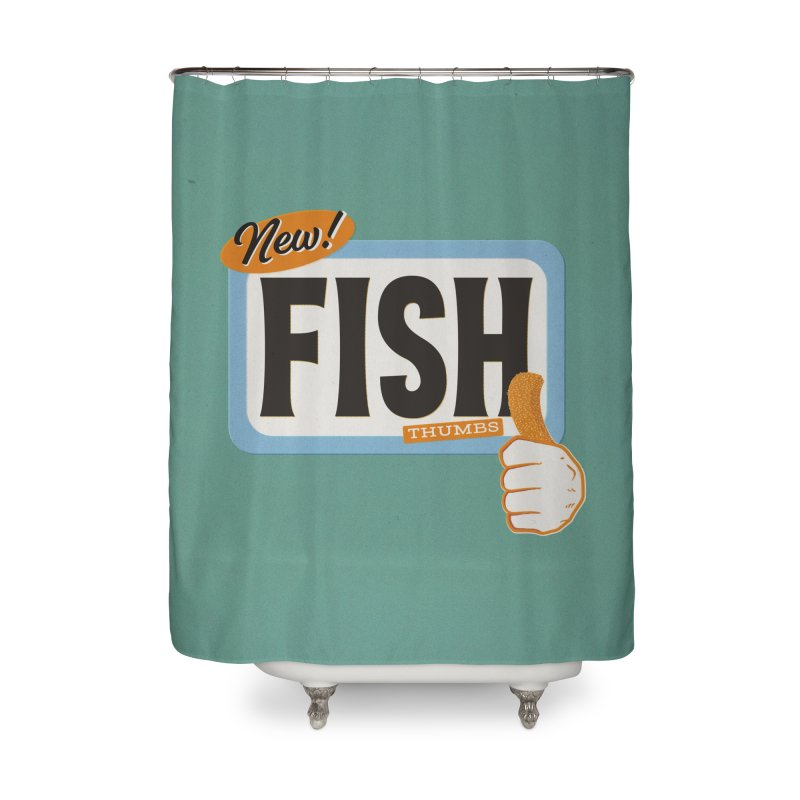 Fish Thumbs Home Shower Curtain by The Artist Shop of Ben Stevens