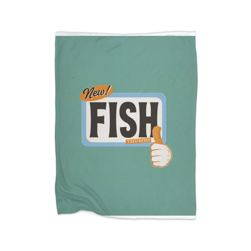 Fish Thumbs Home Blanket by The Artist Shop of Ben Stevens