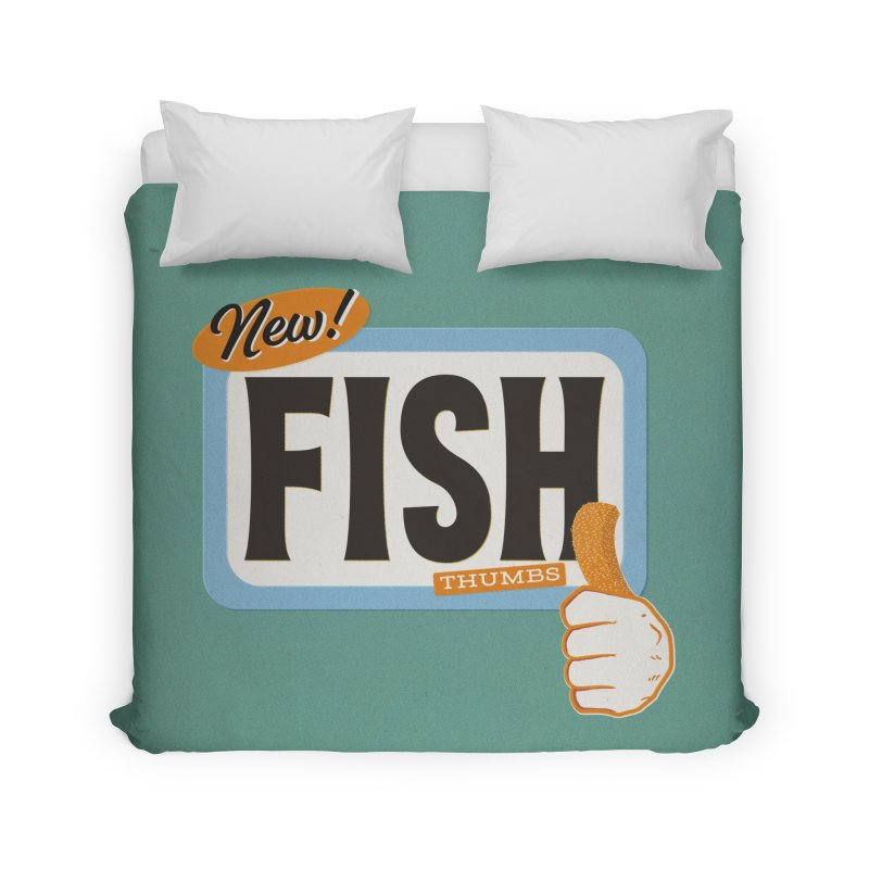 Fish Thumbs Home Duvet by The Artist Shop of Ben Stevens