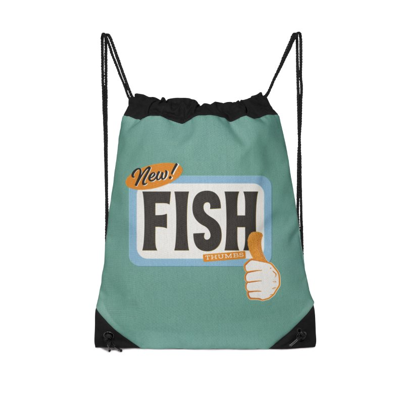 Fish Thumbs Accessories Drawstring Bag Bag by The Artist Shop of Ben Stevens