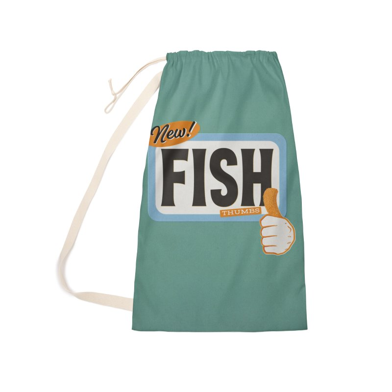 Fish Thumbs Accessories Laundry Bag Bag by The Artist Shop of Ben Stevens