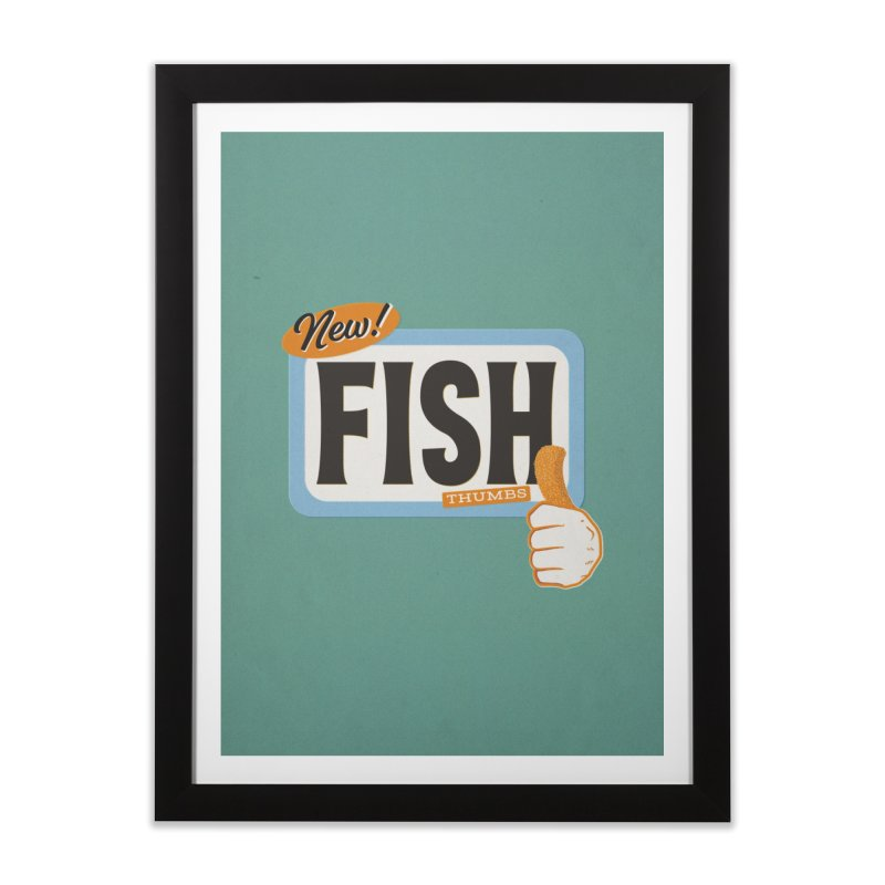 Fish Thumbs Home Framed Fine Art Print by The Artist Shop of Ben Stevens