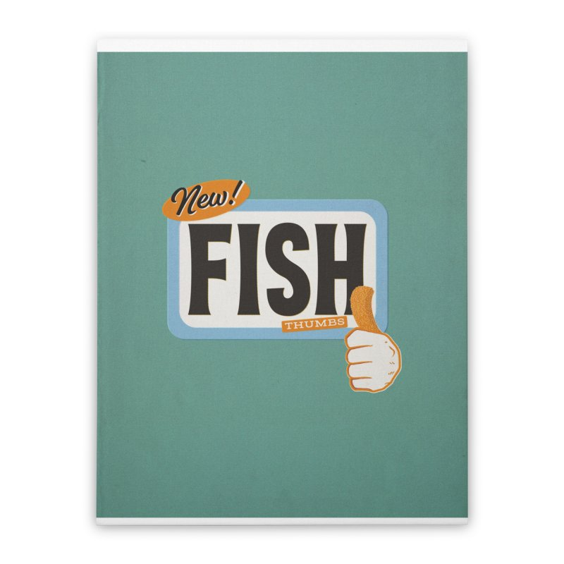 Fish Thumbs Home Stretched Canvas by The Artist Shop of Ben Stevens