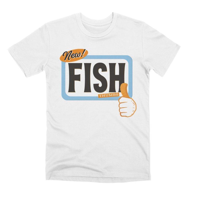 Fish Thumbs Men's T-Shirt by The Artist Shop of Ben Stevens