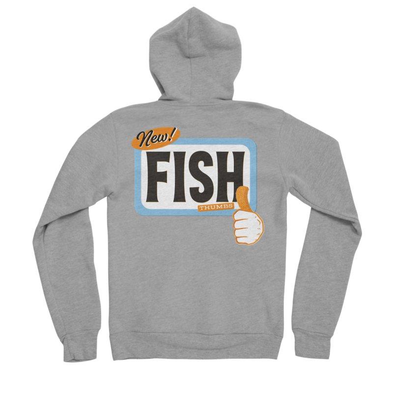 Fish Thumbs Men's Sponge Fleece Zip-Up Hoody by The Artist Shop of Ben Stevens