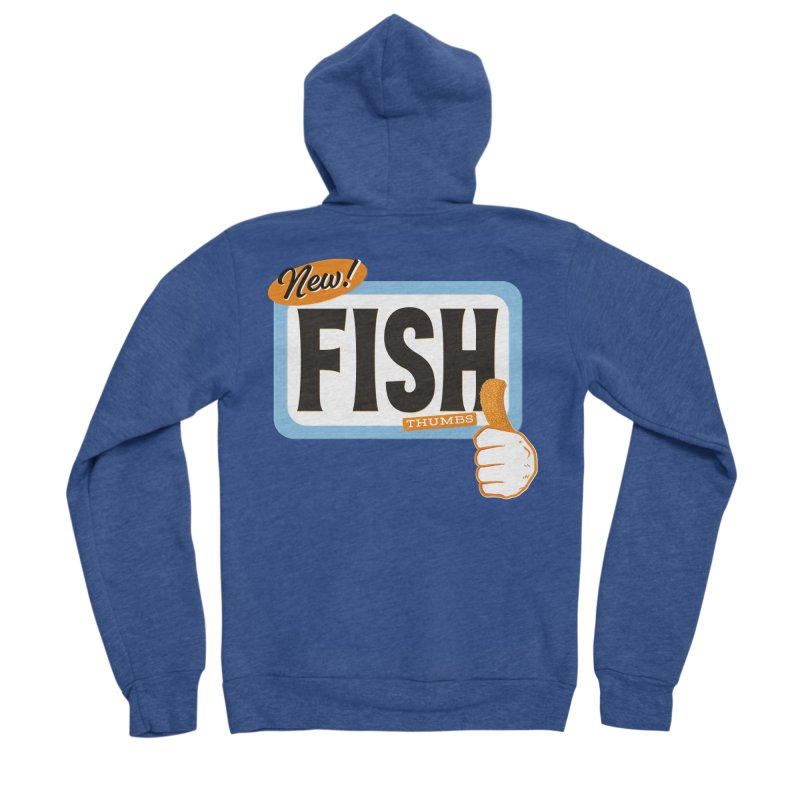 Fish Thumbs Men's Sponge Fleece Zip-Up Hoody by The Artist Shop of Ben Stevens