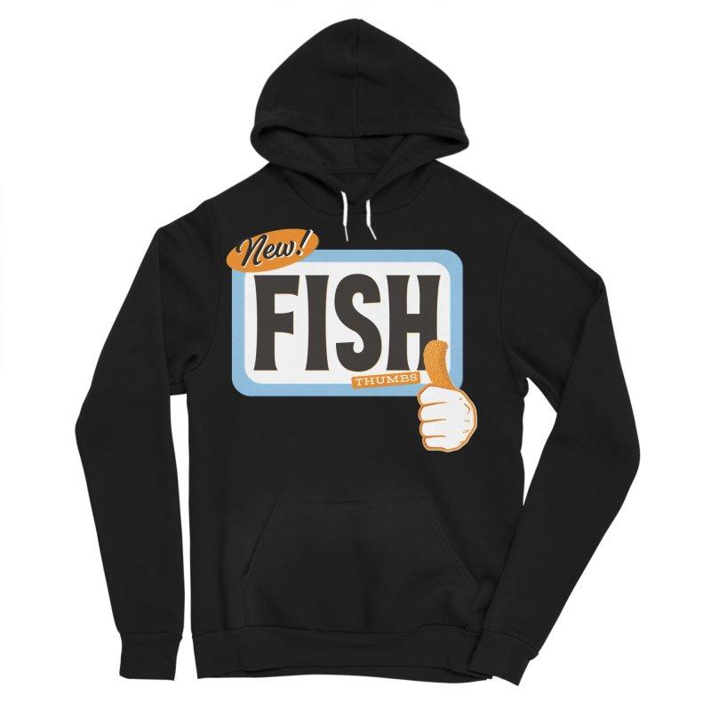 Fish Thumbs Men's Sponge Fleece Pullover Hoody by The Artist Shop of Ben Stevens