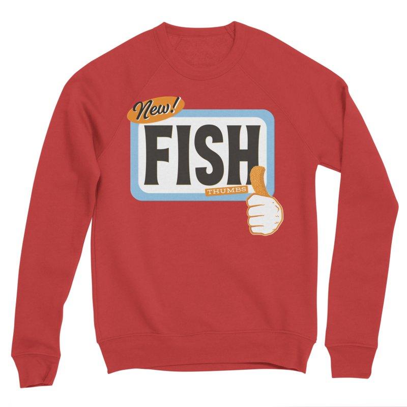 Fish Thumbs Men's Sponge Fleece Sweatshirt by The Artist Shop of Ben Stevens