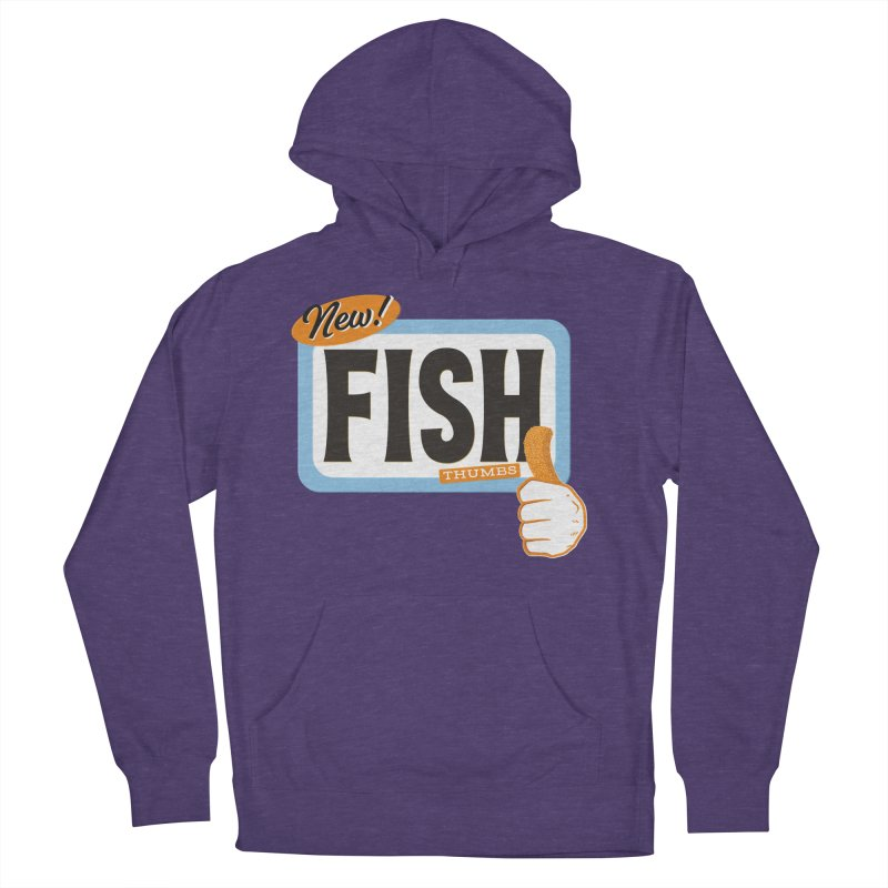 Fish Thumbs Women's French Terry Pullover Hoody by The Artist Shop of Ben Stevens