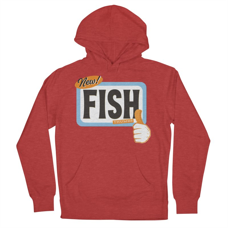 Fish Thumbs Men's French Terry Pullover Hoody by The Artist Shop of Ben Stevens