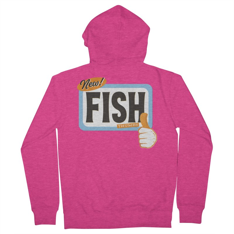 Fish Thumbs Women's French Terry Zip-Up Hoody by The Artist Shop of Ben Stevens