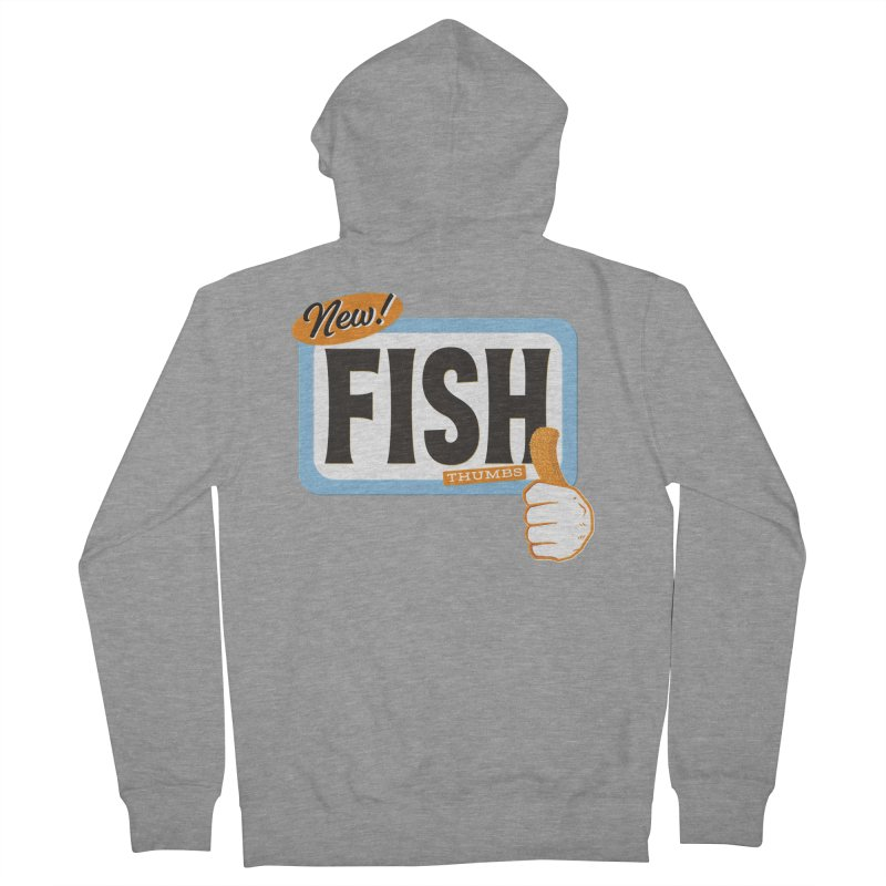 Fish Thumbs Men's French Terry Zip-Up Hoody by The Artist Shop of Ben Stevens
