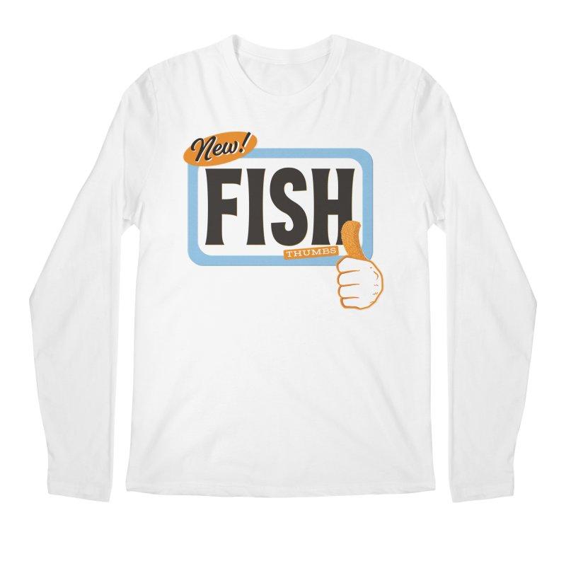 Fish Thumbs Men's Regular Longsleeve T-Shirt by The Artist Shop of Ben Stevens