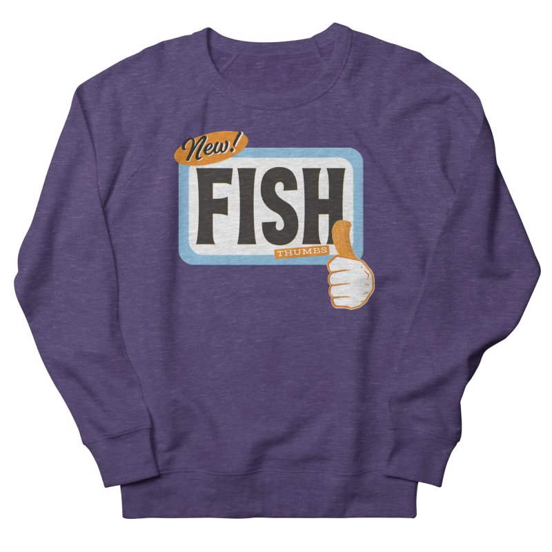 Fish Thumbs Men's French Terry Sweatshirt by The Artist Shop of Ben Stevens