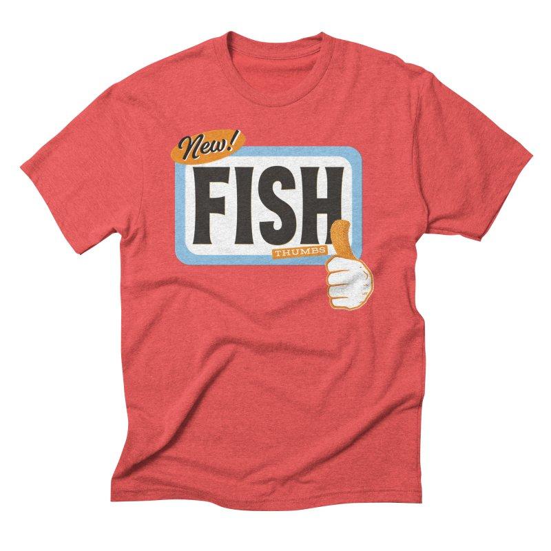 Fish Thumbs Men's Triblend T-Shirt by The Artist Shop of Ben Stevens