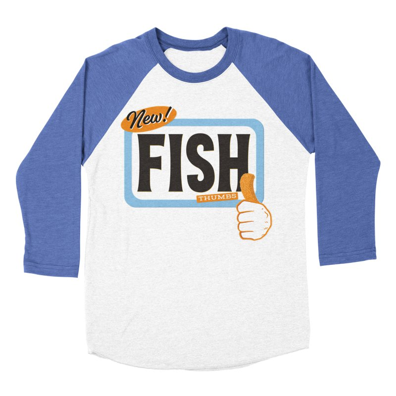 Fish Thumbs Men's Baseball Triblend Longsleeve T-Shirt by The Artist Shop of Ben Stevens