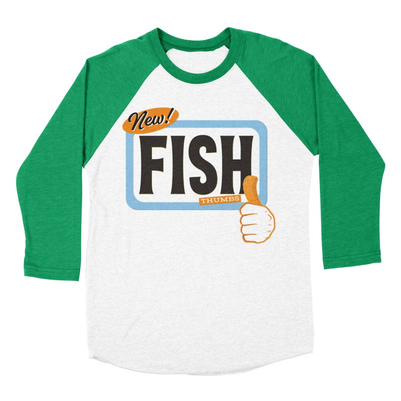 Fish Thumbs Men's Baseball Triblend Longsleeve T-Shirt by The Artist Shop of Ben Stevens