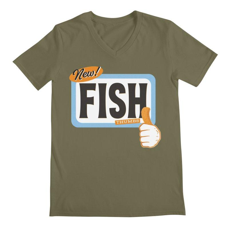 Fish Thumbs Men's Regular V-Neck by The Artist Shop of Ben Stevens