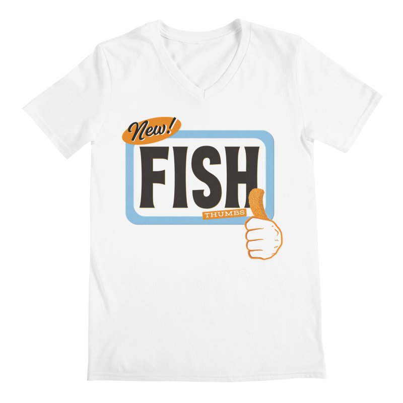 Fish Thumbs Men's Regular V-Neck by The Artist Shop of Ben Stevens
