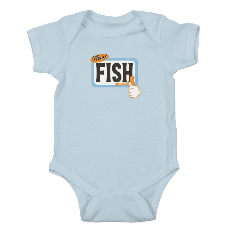 Fish Thumbs Kids Baby Bodysuit by The Artist Shop of Ben Stevens