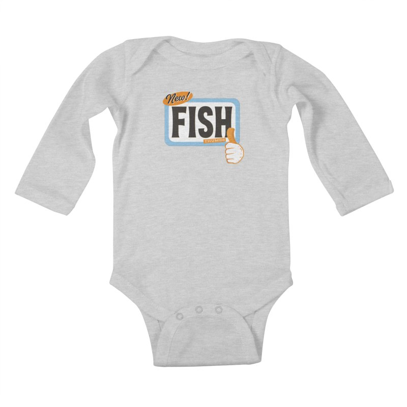 Fish Thumbs Kids Baby Longsleeve Bodysuit by The Artist Shop of Ben Stevens