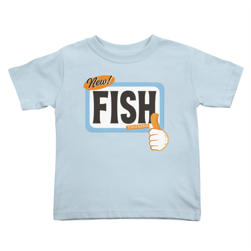 Fish Thumbs Kids Toddler T-Shirt by The Artist Shop of Ben Stevens