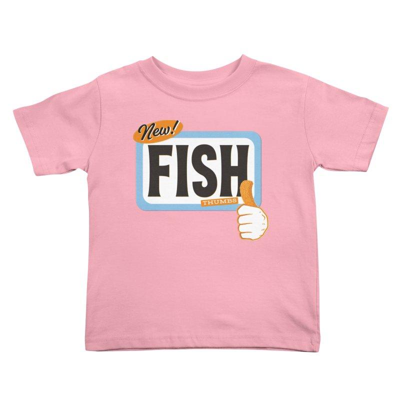Fish Thumbs Kids Toddler T-Shirt by The Artist Shop of Ben Stevens