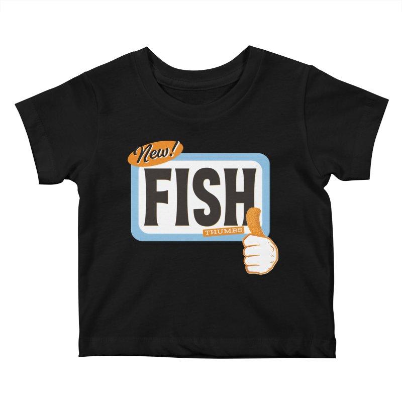 Fish Thumbs Kids Baby T-Shirt by The Artist Shop of Ben Stevens