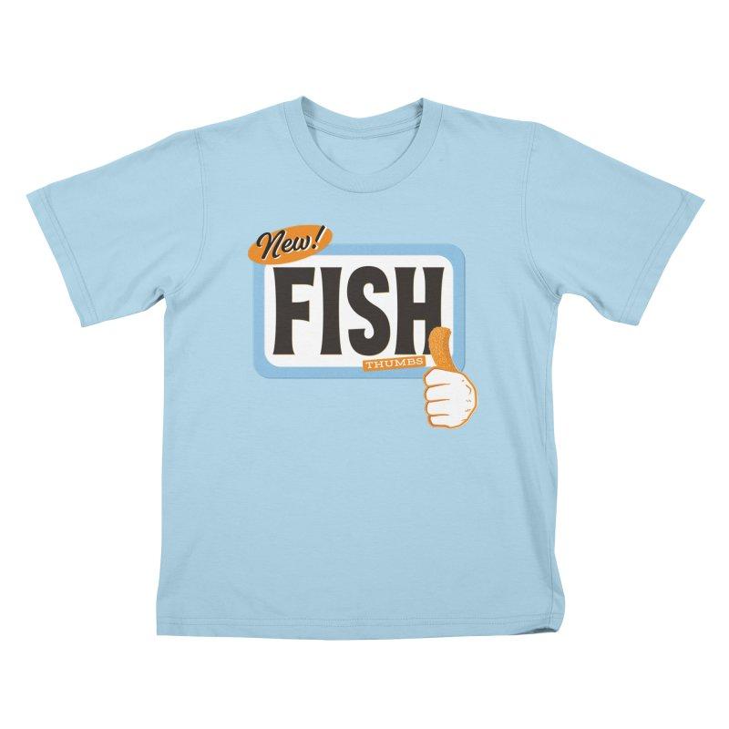 Fish Thumbs Kids T-Shirt by The Artist Shop of Ben Stevens