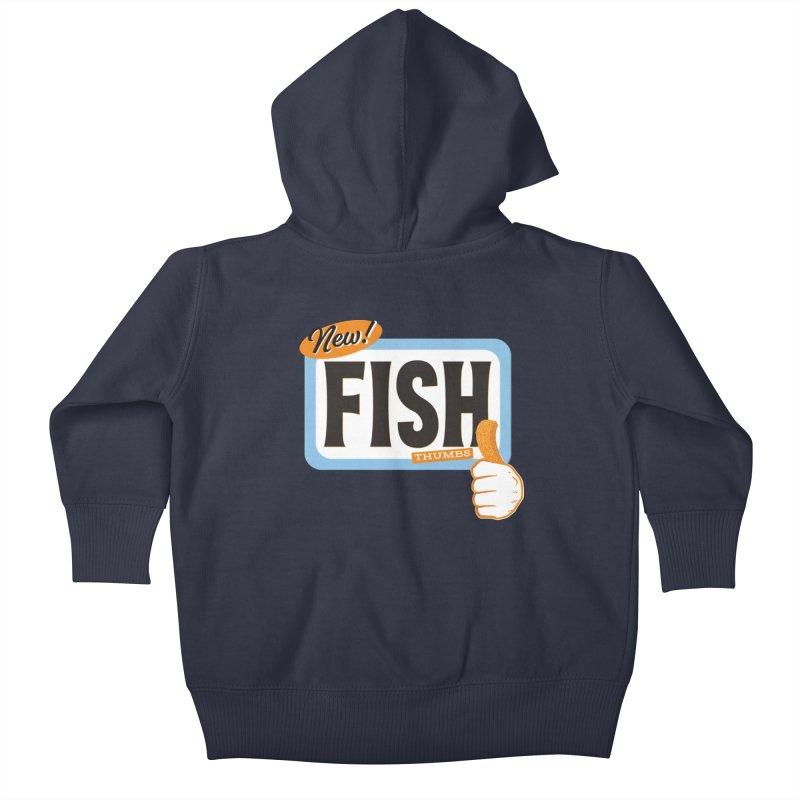 Fish Thumbs Kids Baby Zip-Up Hoody by The Artist Shop of Ben Stevens