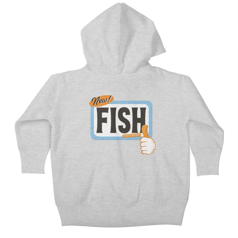 Fish Thumbs Kids Baby Zip-Up Hoody by The Artist Shop of Ben Stevens