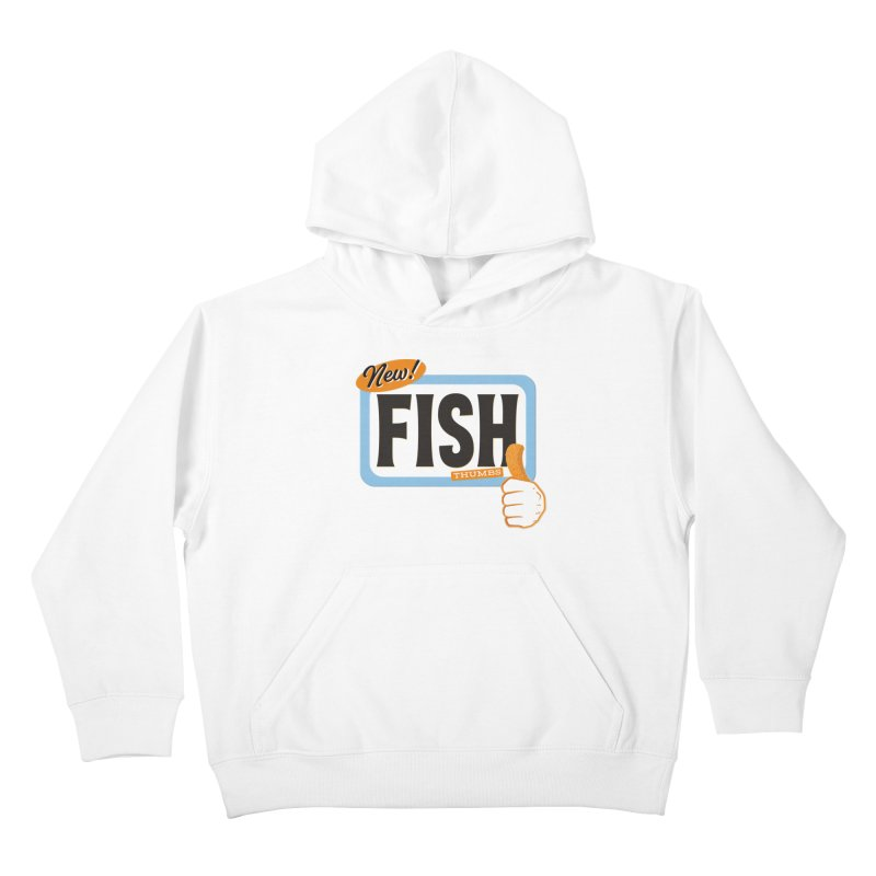 Fish Thumbs Kids Pullover Hoody by The Artist Shop of Ben Stevens