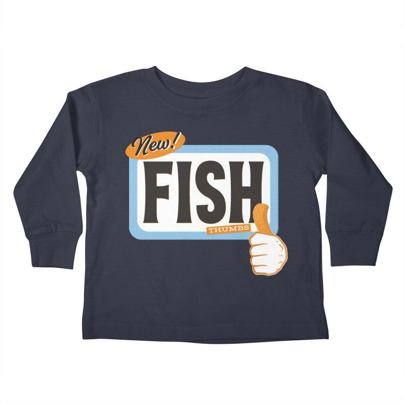 Fish Thumbs Kids Toddler Longsleeve T-Shirt by The Artist Shop of Ben Stevens