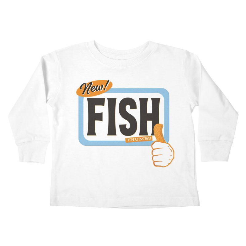 Fish Thumbs Kids Toddler Longsleeve T-Shirt by The Artist Shop of Ben Stevens