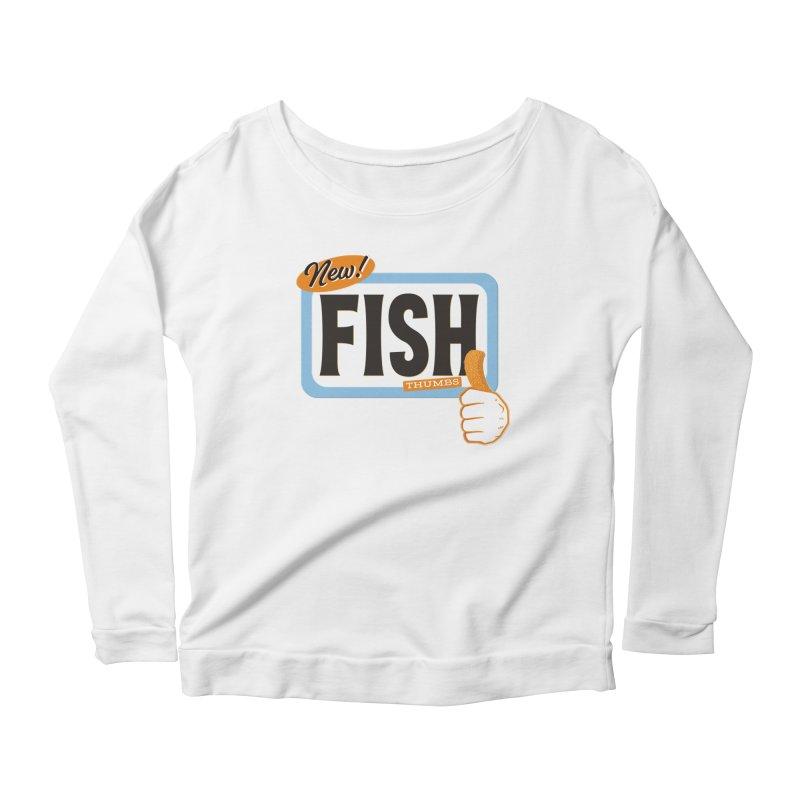 Fish Thumbs Women's Scoop Neck Longsleeve T-Shirt by The Artist Shop of Ben Stevens