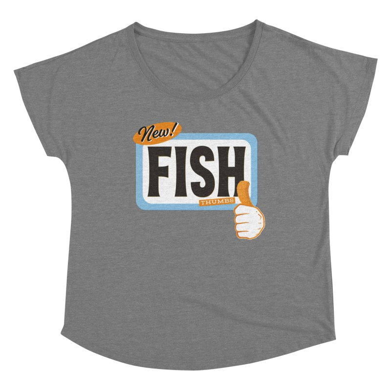 Fish Thumbs Women's Scoop Neck by The Artist Shop of Ben Stevens