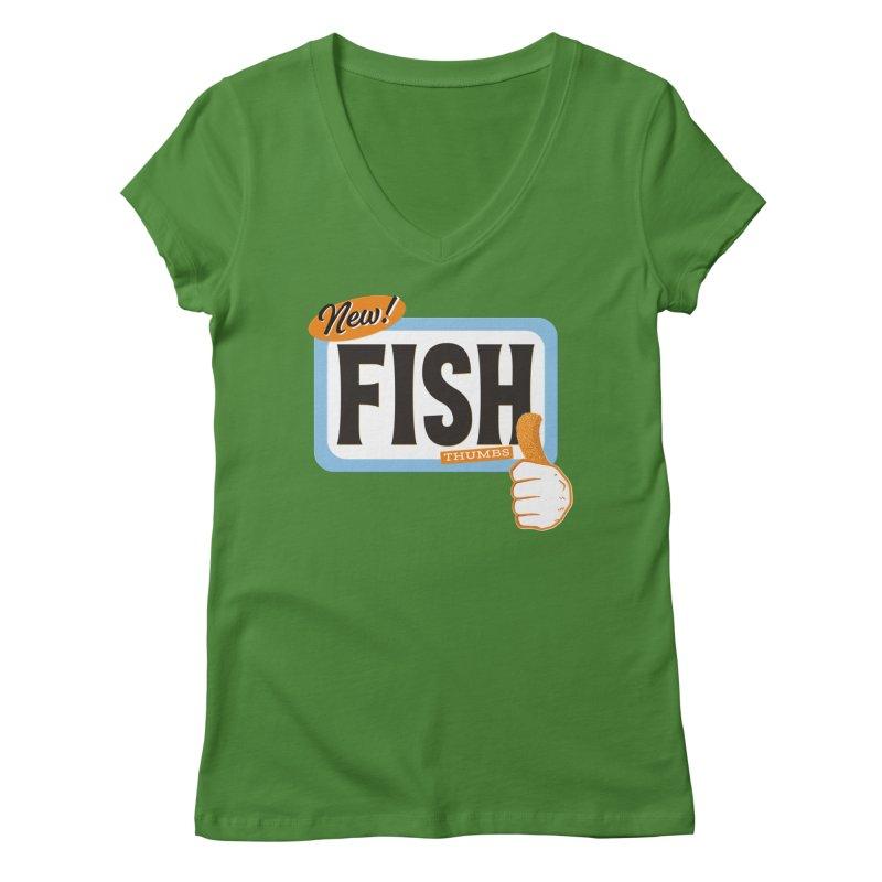 Fish Thumbs Women's Regular V-Neck by The Artist Shop of Ben Stevens