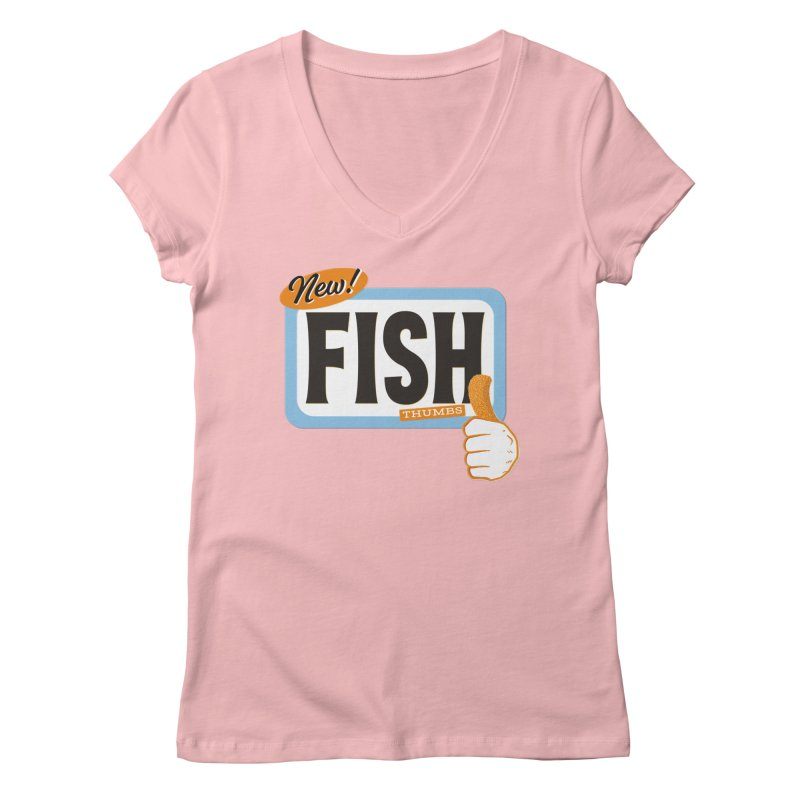 Fish Thumbs Women's Regular V-Neck by The Artist Shop of Ben Stevens