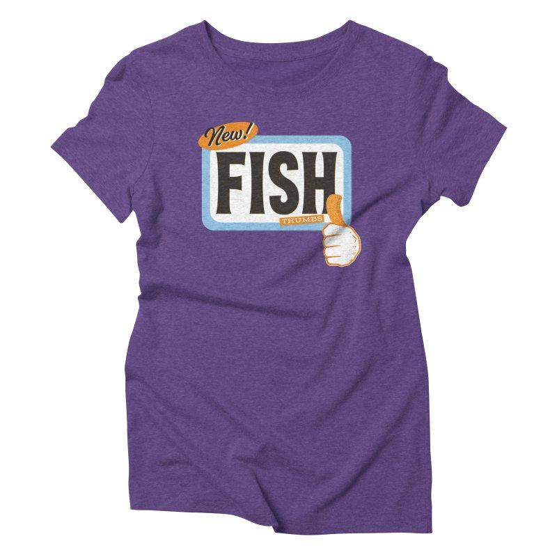 Fish Thumbs Women's Triblend T-Shirt by The Artist Shop of Ben Stevens